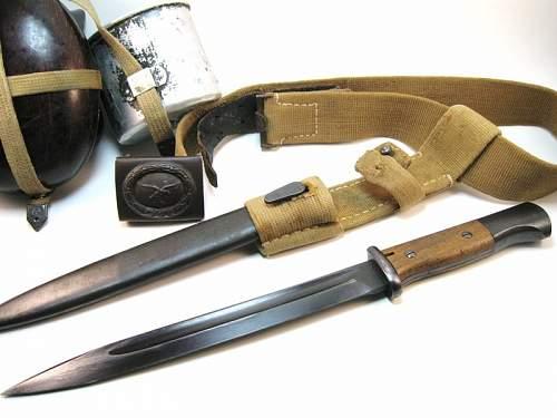 DAK Luftwaffe Bayonet Rig