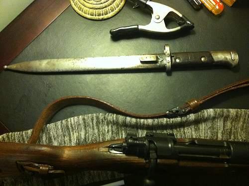 possibly Czech vz.24 bayonet?