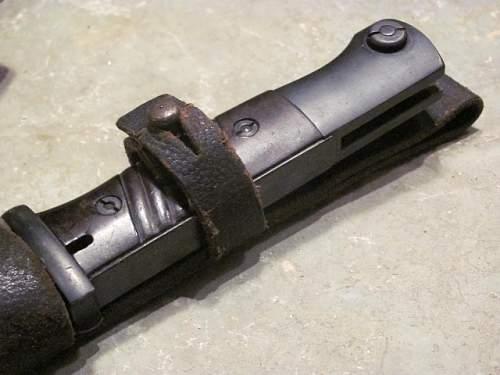 K98 Bayonet with Skeletonized Frog