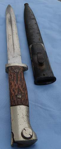 KS98 Short Bayonet - Simulated Stag Grips