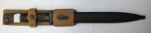 K98 bayonet, matching numbers, in tropical web frog