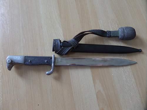 German dress bayonet fea market find