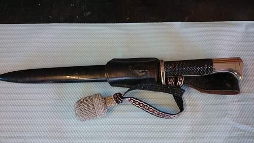 parade bayonet, real or repro