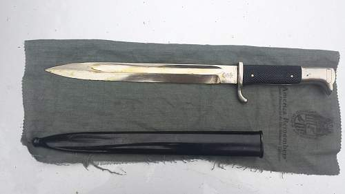 Etched Dress Bayonet by Hack Werke Steyr
