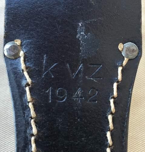 "K98 ""Tr."" markings on blade?"