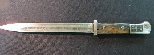 SS engraved bayonet... Fake or Real? your opinion please.