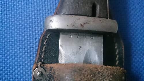 Numbers Matching K98 Bayonet