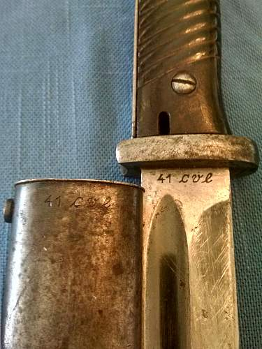 Found another matched K98 Bayonet