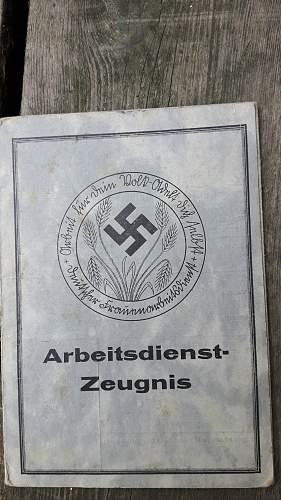 Arbeitsdienstzeugnis im Arbeitsdienstheim NS frauenarbeitsdienst Nordmark 1935