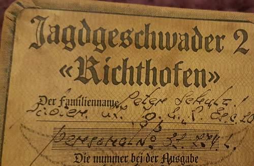 Luftwaffe - Jagdgeschwader 2 Pilot ID