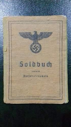 Late War Artillery Gunner Soldbuch