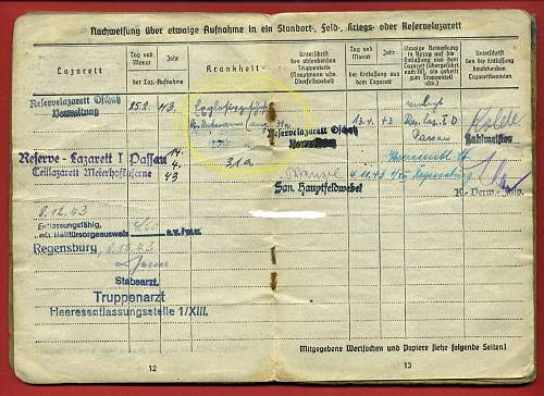 German Panzer Grenadier Soldbuch