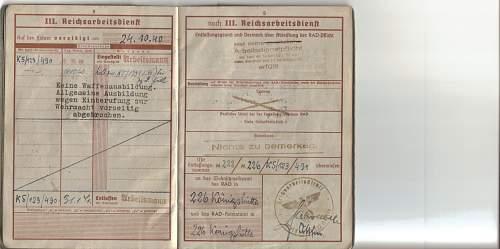 Translation of wehrpass to Georg Kalemba