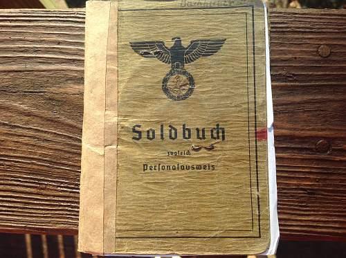 "Late War Heer Soldbuch ""Grenadier"""