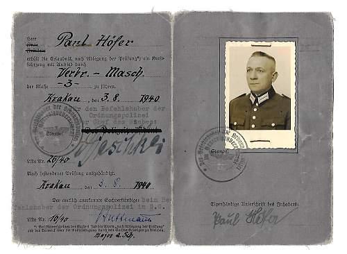 identifying Schutzpolizei in Krakau