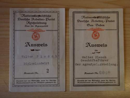 Various 3rd Reich paper items.