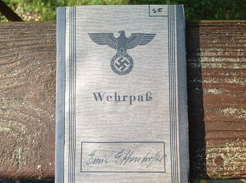 Wehrpas from an Augsburg fellow