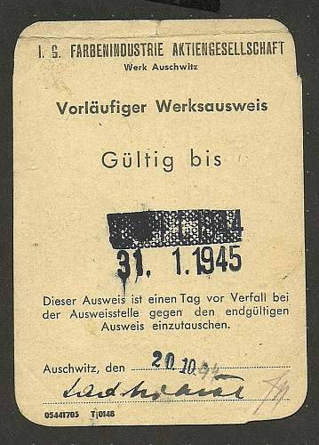 Arbeitsbuch, ausweis, rations...1941-1945