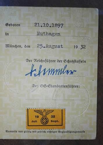 SS Ausweis. Original?