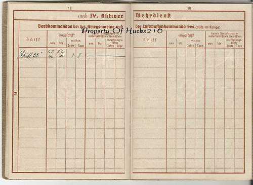 Auxiliary Cruiser ' Pinguin' Wehrpass & Paperwork