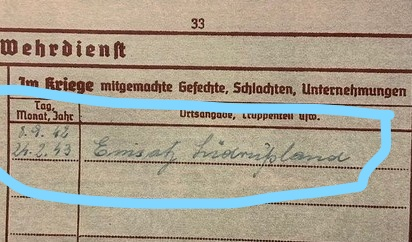 Request help with Wehrpass translation !