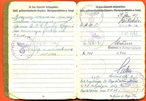 TRANSLATION NEEDED Russian entry in a soldbuch