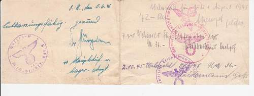 Odd SS replacement Soldbuch doc POW Camp?