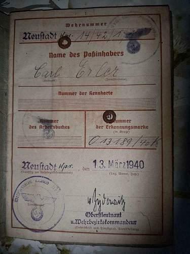 Soldbuch & Wehrpass kriegsmarine
