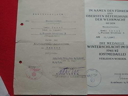 Panzer grouping with paperwork
