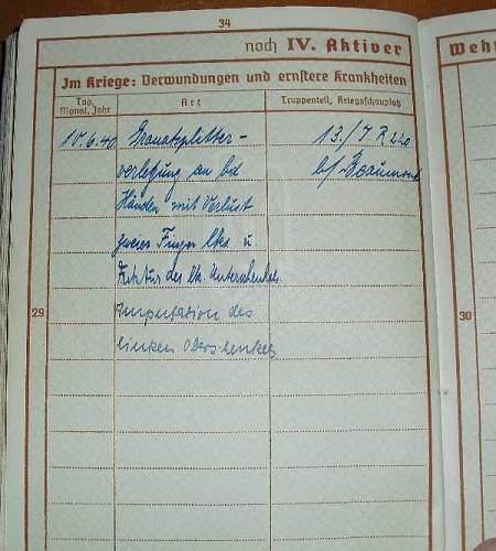 Early Werhpass Edo Ahriens IR 16 early casualty too!
