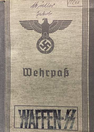 Picked up two SS Totenkopf Camp Guard Wehrpass