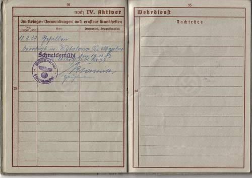 Werhpass to Ewald Messerschmidt. Polish Casualty 10/09/39. Panzers?