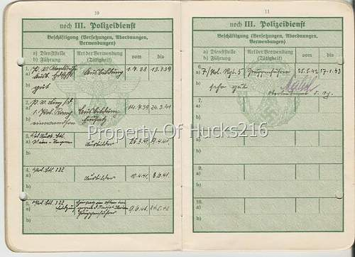 Polizei Dienstpass With A Dark History