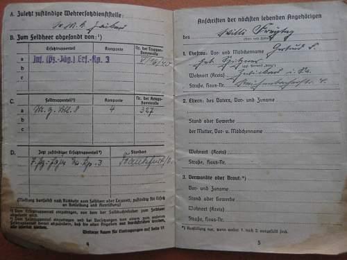 Wehrmacht Soldbuch Afrika ?