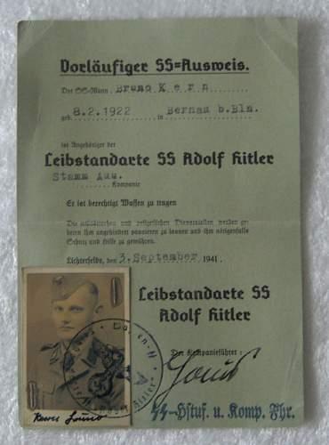 SS-LAH. Ausweis
