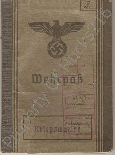 'Bismarck' Wehrpass