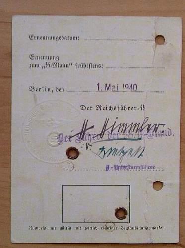2nd Pattern SS Ausweis?