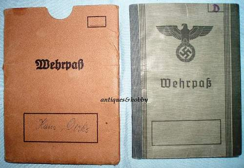 WEHRPASS & RAD book - copies or excellent preserved items ?
