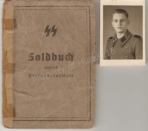 SS-Flak-Abt 'Nord' Soldbuch