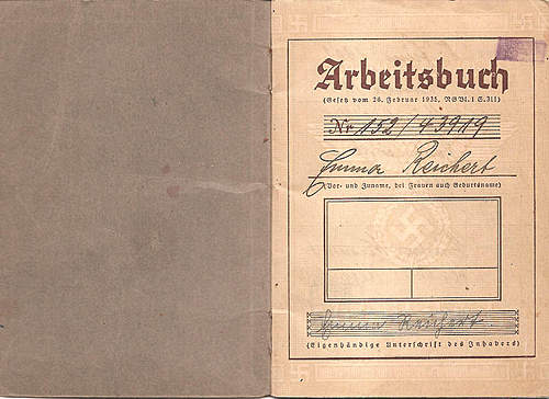 Arbeitsbuch used pre and post war