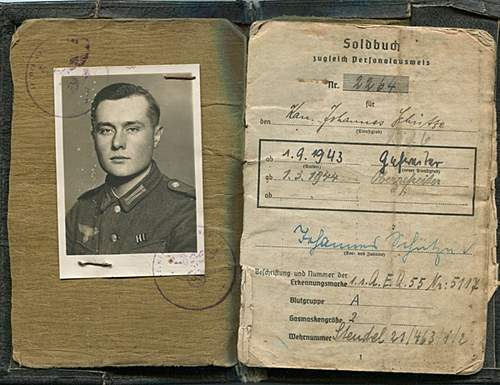 Soldbuch 17th panzer division.