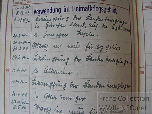 Brandenburg Wehrpass  page 28