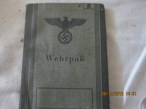 Wehrpass: What would the value be?