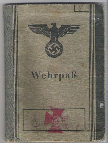 Sad story ,ended in Normandy(wehrpass)