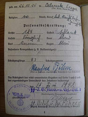 SS Soldbuch translation help