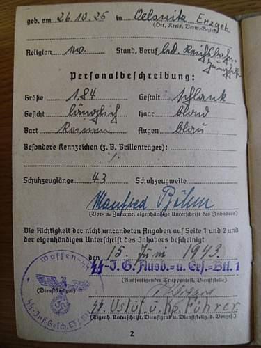 SS Soldbuch translation help
