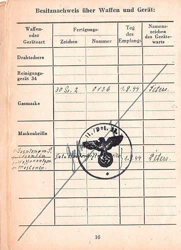 Polizei soldbuch