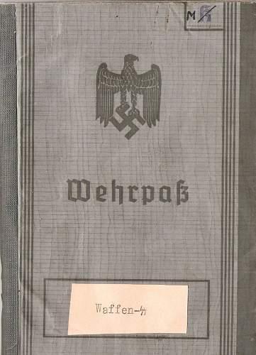 Waffen SS Wehrpass