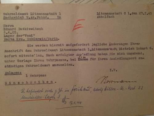 Wehrmacht/Waffen SS Soldbuch... Horst Wessel