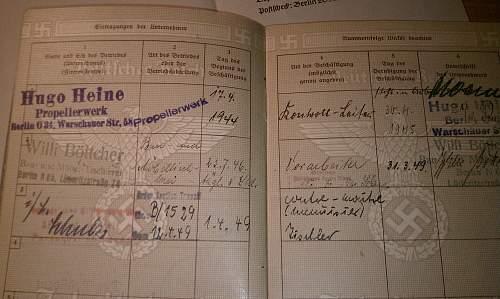 Arbeitsbuch Document translation help needed